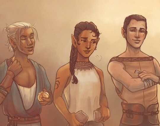 Zevran, Rinna and Talisen http://whorelden.tumblr.com/archive