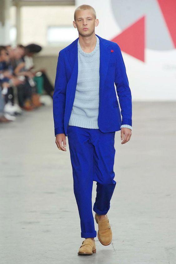 Oliver Spencer Spring Summer 2013 does the coolest shade of blue