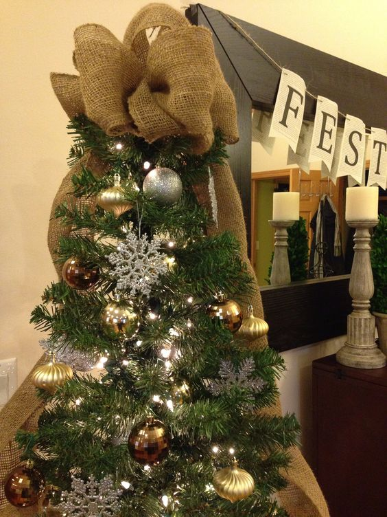 Tree Toppers Burlap And Trees On Pinterest