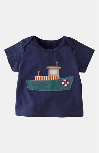 Mini Boden 'Vehicle Appliqué' T-Shirt (Infant) available at #Nordstrom: