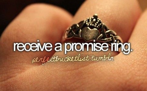ah i an ring but yes promise rings make