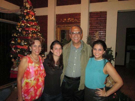 La familia de Lolo Morales en Navidad de 2013