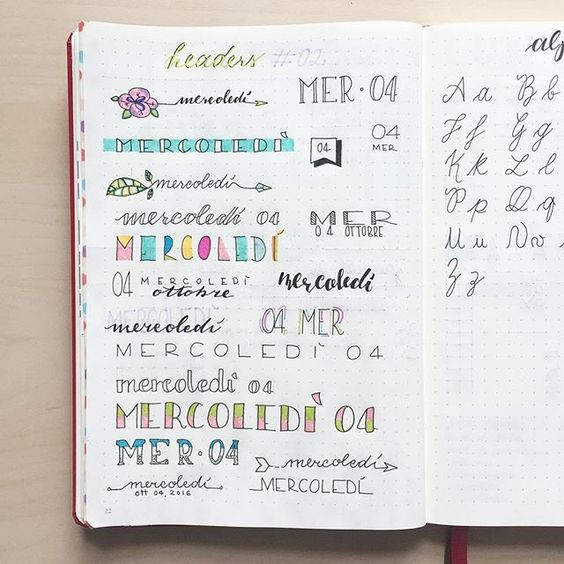 New headers ideas! I'm in love with all these colors. Do you like them?  Thanks to @nicoles.journal for the inspiration