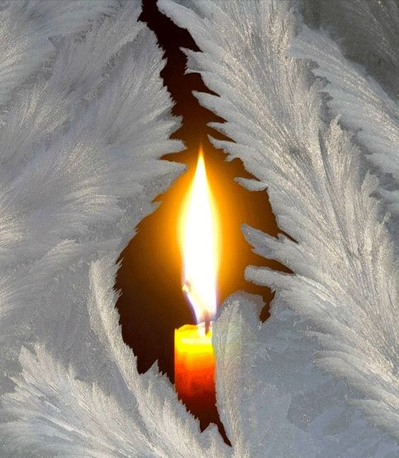 Candle and Angel wings