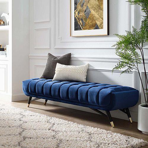 Modway Adept Upholstered Velvet Bench In 2020 Velvet Bench Upholstered Bench Contemporary Living Room Furniture
