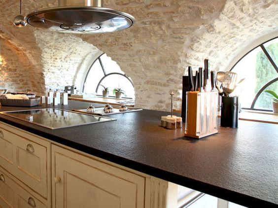 le plan de travail fait partie intgrante de la cuisine on le veut pratique et - Deco Cuisine Gris Plan De Travail Ardoise