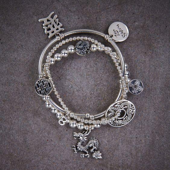 Hong Kong Trio of Bracelets 925 Silver