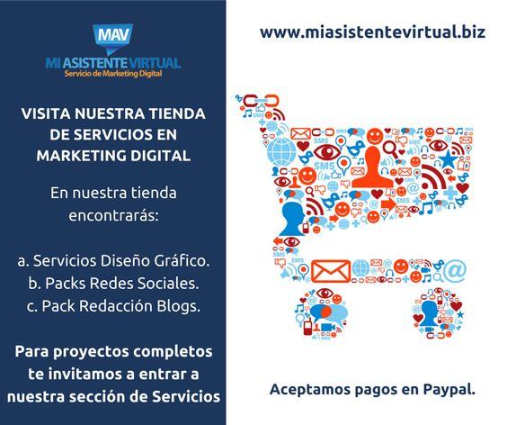 En nuestro sitio web tenemos para tí nuestra Tienda de Servicios... Para ingresar da clic aquí: http://goo.gl/v2oVR2 Para proyectos que requieren de un servicio mensual te invitamos a ingresar en nuestra sección de servicios.