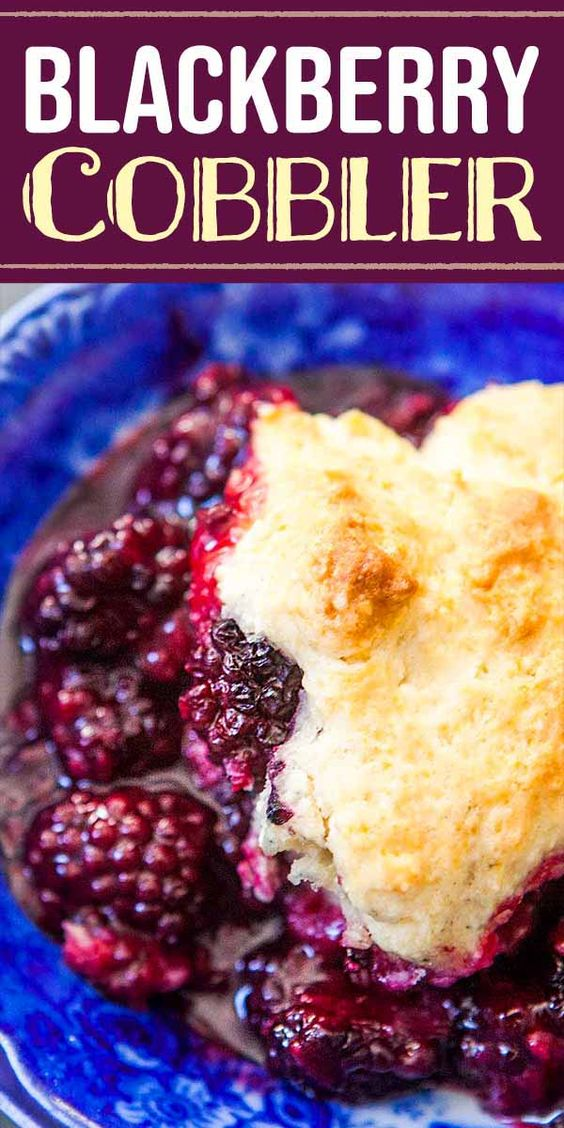 Blackberry Cobbler {Better Than Pie!}