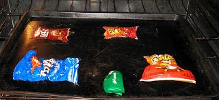 Who knew you could do this?!  Shrinky Dink Chip Bag