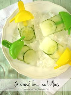 Gin and Tonic Ice Lolly Recipe - The perfect grown up summer cooler! Packed with refreshing flavours of cucumber and of course, GIN FOR THE WIN!