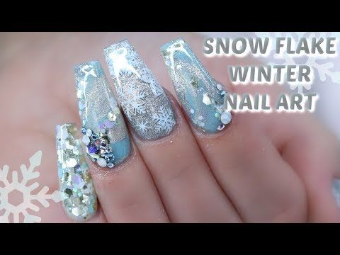 Snow Flake Winter Themed Nails Collab With Talia S Nail Tales