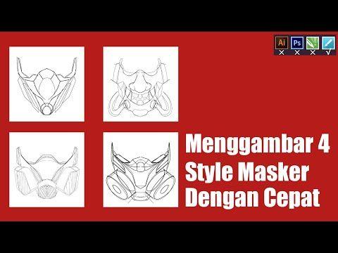 Cara Menggambar Masker Di Android Untuk Pemula Youtube Cara Menggambar Desain Vektor Gambar