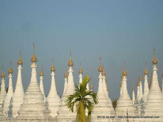 View from Kuthodaw Pagoda, Mandalay (Myanmar)