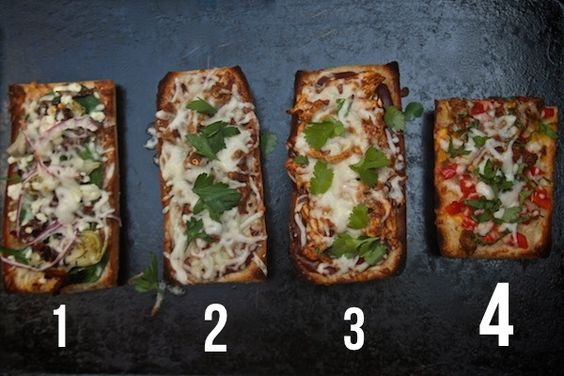 French Bread Pizza- 2 Ways