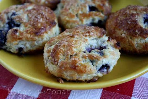 blueberry buttermilk scones with lemon and coconut!