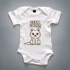 Game of thrones .:Team Ghost:. body baby. I need one that says Team Summer! :)