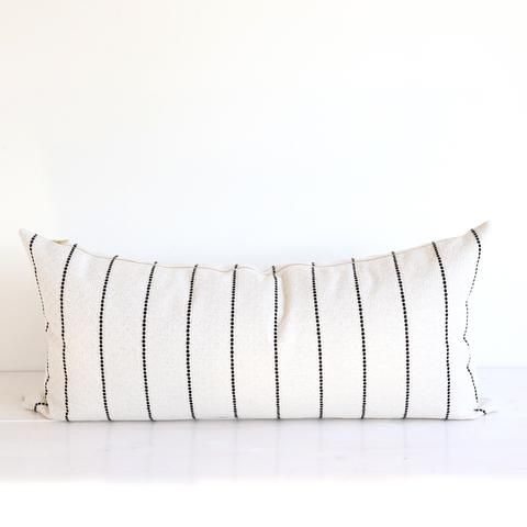 Black And White Stripe Pillow In Extra Long Lumbar Size Long Throw Pillows Long Pillow Black And White Pillows