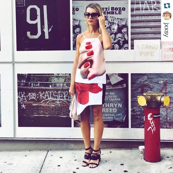 "ModaRush on Instagram: ""#nyfw15 looks we like: @jxxsy ・・・ #outfit @karlaspetic #rednails #hand #karlaspetic #nataliejoos"""