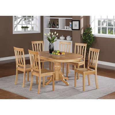 Wooden Importers Easton 7 Piece Dining Set Finish: Oak