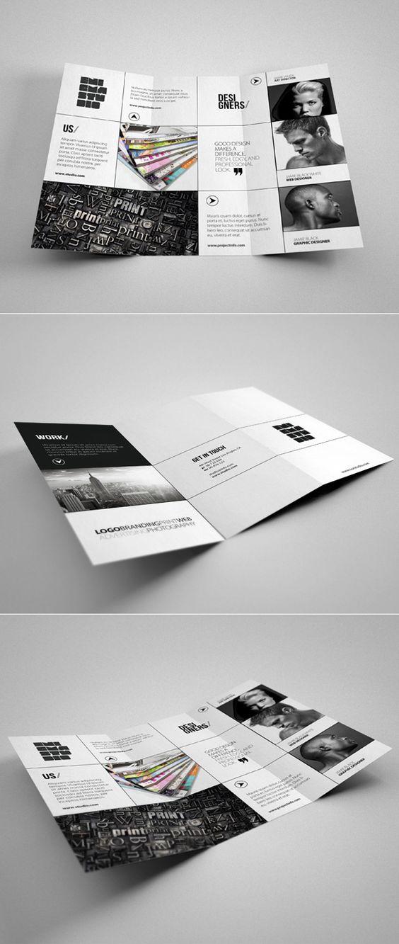 Brochures creative studio and minimalist design on pinterest for Design studio brochure