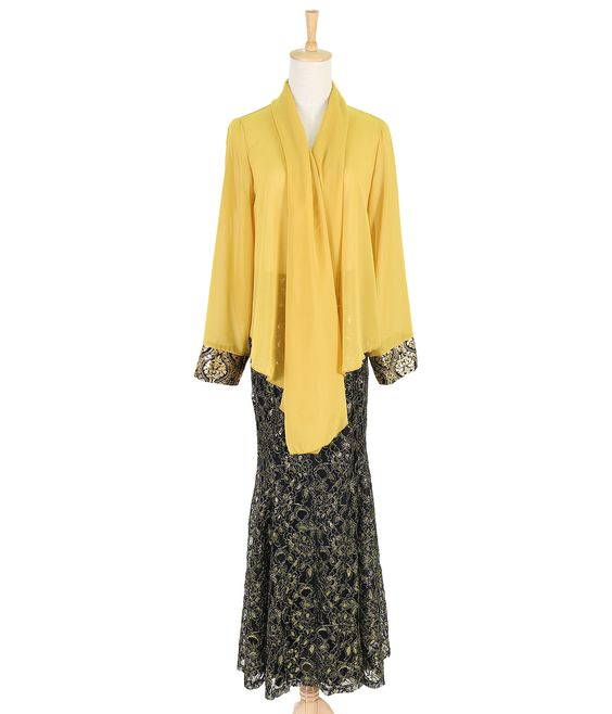 All available from www.zolace.com. Twinkling at Twilight #Kimono #Cardigan in Mustard (RM49), Elegance Aglow #Mermaid #Skirt in Gold (RM99)