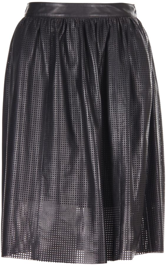 Leather skirt by Drome, featured at www.thefanzynet.com