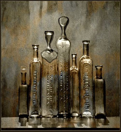 bottles--could i do anything like this with those old basting oil bottles?