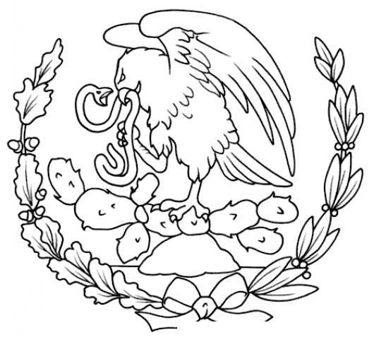Resultado De Imagen Para Escudo De Mexico Para Colorear Escudo De Mexico Bandera De Mexico Dibujo Escudo Nacional De Mexico