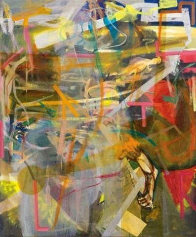 Embraceable You by Albert Oehlen  oil, enamel and acrylic on canvas  Size 94.5 x 78.7 in. 1994