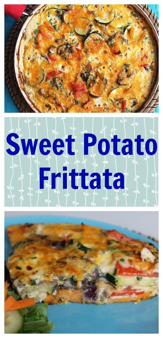 Sweet Potato Frittata is an easy breakfast or brunch recipe that ...