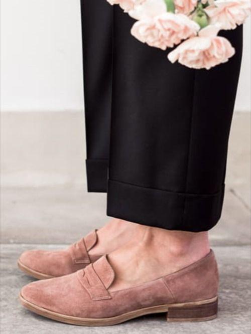 Cudowne Mokasyny Preppy Pink Loafers Shoes Fashion