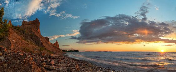 Chimney Bluffs by Mark Papke. Fine art/framed, metal, canvas, and acrylic prints available. Click on the picture..