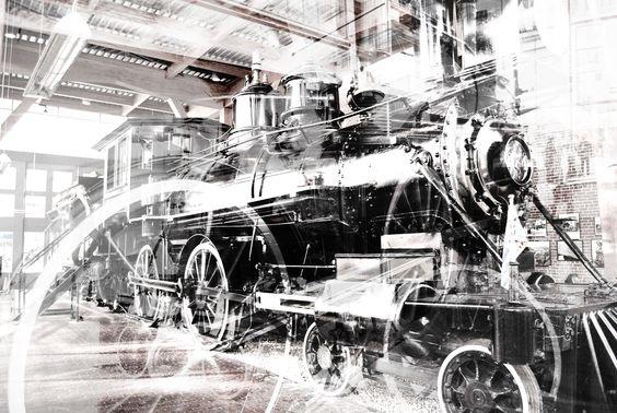 #train #black #white #vancouver