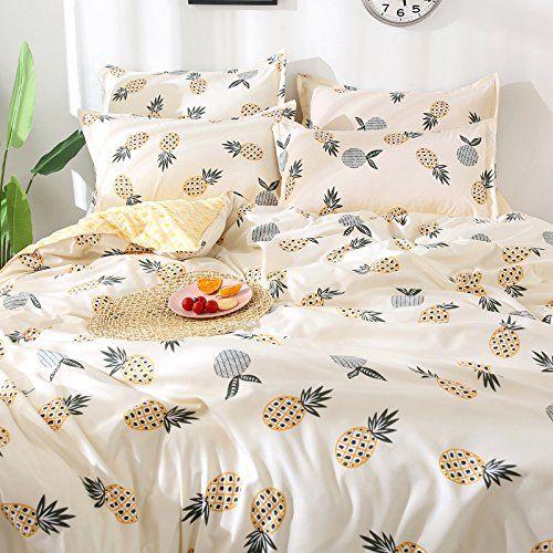 Kfz Pineapple Print Bedding Set Duvet Bedding Sets Print Bedding Duvet Cover Sets