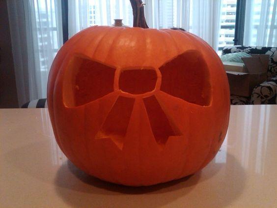 bow pumpkin #halloween