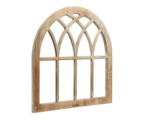 Architectural antiques make great wall d cor and we found for How to decorate an arched window