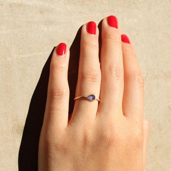 Pale Blue Eyes Ring