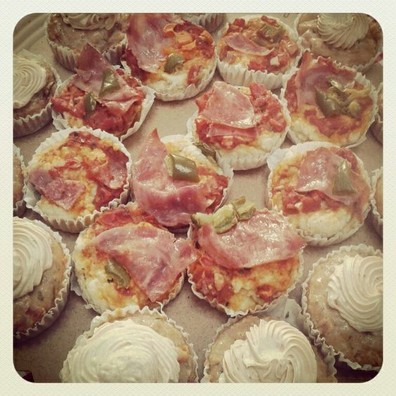 Mini pizzas y canapes ♥♡♥ #yumy