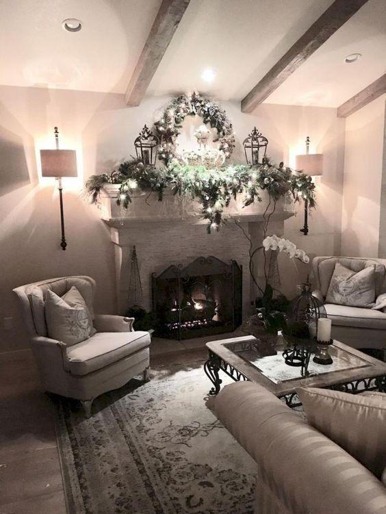 11 Inspiring Farmhouse Spring Decor Ideas For You Godiygo Com Farm House Living Room Christmas Living Rooms Home Decor