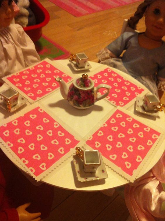 American Lunch Table Set Up : American Girl Doll Placemats for fun tea parties and meals, set of ...
