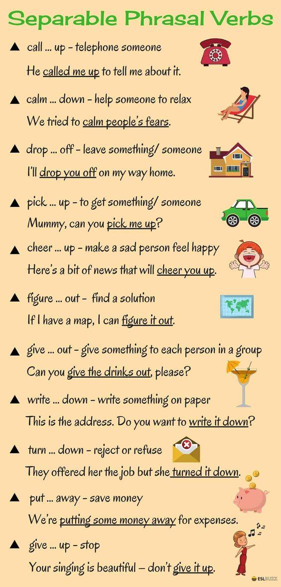 Learn 20+ Separable Phrasal Verbs in English 14