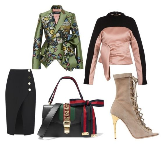 """Untitled #117"" by astridlains on Polyvore featuring Balenciaga, C/MEO COLLECTIVE, Gucci, Balmain and Dsquared2"