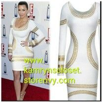 Vintage sexy long sleeve knee-length pencil dress. Celebrities such as Kim  Kardeshian has been seen wearing this same type of dress.  Fabric: Worsted Decoration: Sequined Dresses Length: Knee-Length Available Sizes: Small to XXL