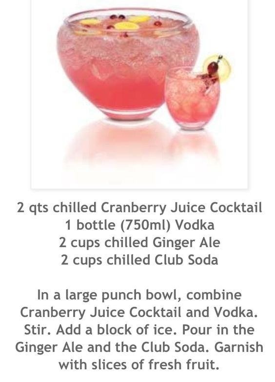 Cranberry Vodka Cocktails And The O 39 Jays On Pinterest