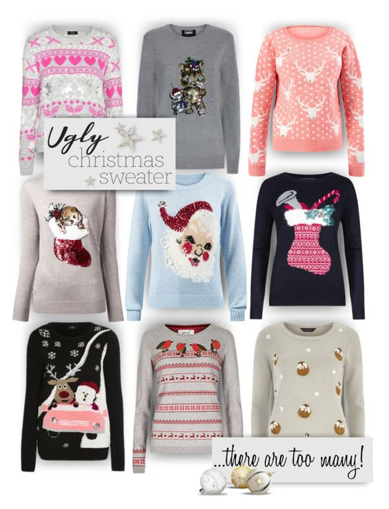 """""""Too many ugly sweaters!"""" by alisa138 ❤ liked on Polyvore featuring M&S, Markus Lupfer, Dorothy Perkins and uglychristmassweater"""
