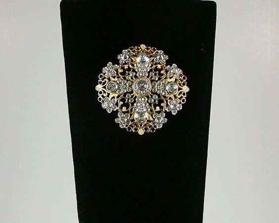 NETTIE ROSENSTEIN Golden Filigree Brooch with by KatsCache on Etsy, $350.00