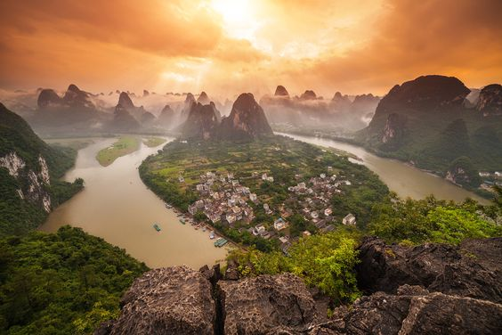 A View To Die For by peter stewart on 500px View of the Li River from the top of Lao Zhai Shan, one of the highest peaks in Yangshuo that you can climb.