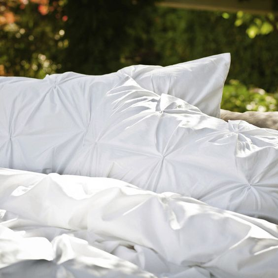 Beautiful White Pintuck Duvet from Crane and Canopy