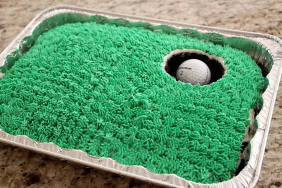 Very cute idea for a Golf- Inspired Birthday Cake